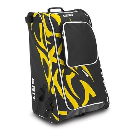 gelb-schwarze Eishockeytasche von Grit