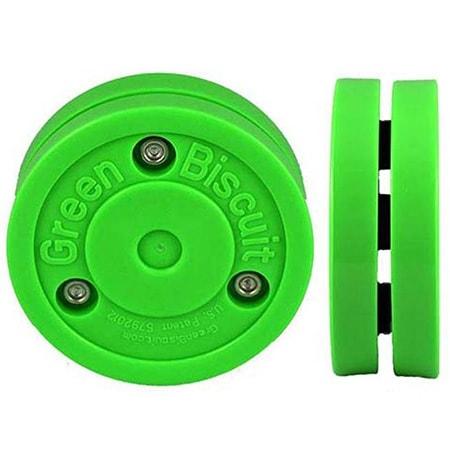 Green Biscuit Puck von vorne und von der Seite