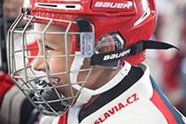Kind freut sich beim Hockey Camp